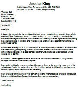 Sample cover letter for teacher job application